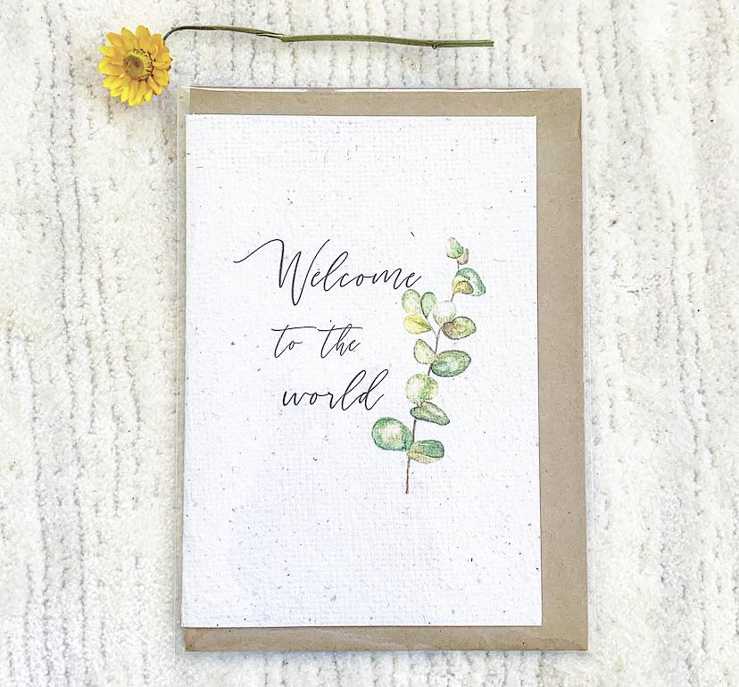 Wattle_Co Gum 'Welcome to the World' Card