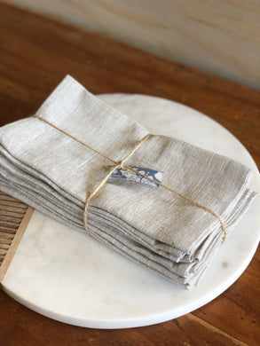 Pure Linen Napkins -Oatmeal colour - 45 x 45 cm price per napkin