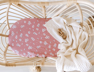 Snuggle Hunny Jersey Bassinet Sheets Daisy and Dusk