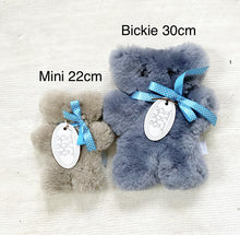 Load image into Gallery viewer, Tambo Teddies Large Bickie Bear Dark Grey with Blue Tie
