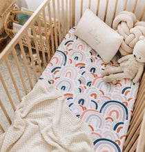 Load image into Gallery viewer, Snuggle Hunny Jersey Cot Sheets - Rainbow