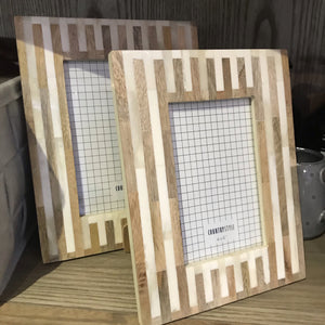 Bone Frame- Kyneton |  Timber & White Stripe