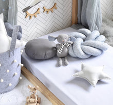 Load image into Gallery viewer, Snuggle Hunny Jersey Cot Sheets -Stone