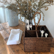 Load image into Gallery viewer, Rattan Cutlery Caddy
