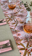 Load image into Gallery viewer, Flowering Eucalypt in Blush Table Runner