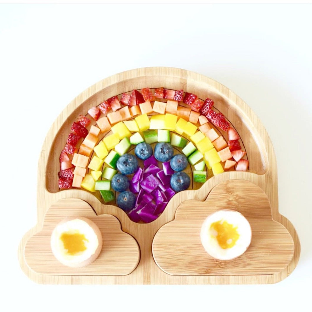 Emondo Rainbow Plate with Egg Cups