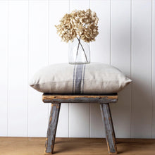 Load image into Gallery viewer, Bien Cushion with French Navy Grainsack Stripe