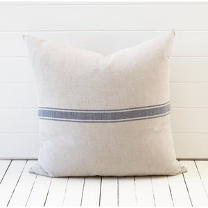 Bien Cushion with French Navy Grainsack Stripe