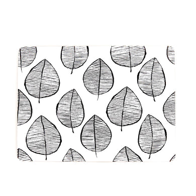 Lush Leaf Placemats Set of 4 | Black & White