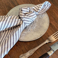 Load image into Gallery viewer, 'Salt & Pepper Stripe' Linen Napkins (Pre-Order Spring 2020)