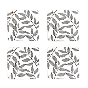 Urbane Leisure Cork Coasters Set of 4 | Black & White