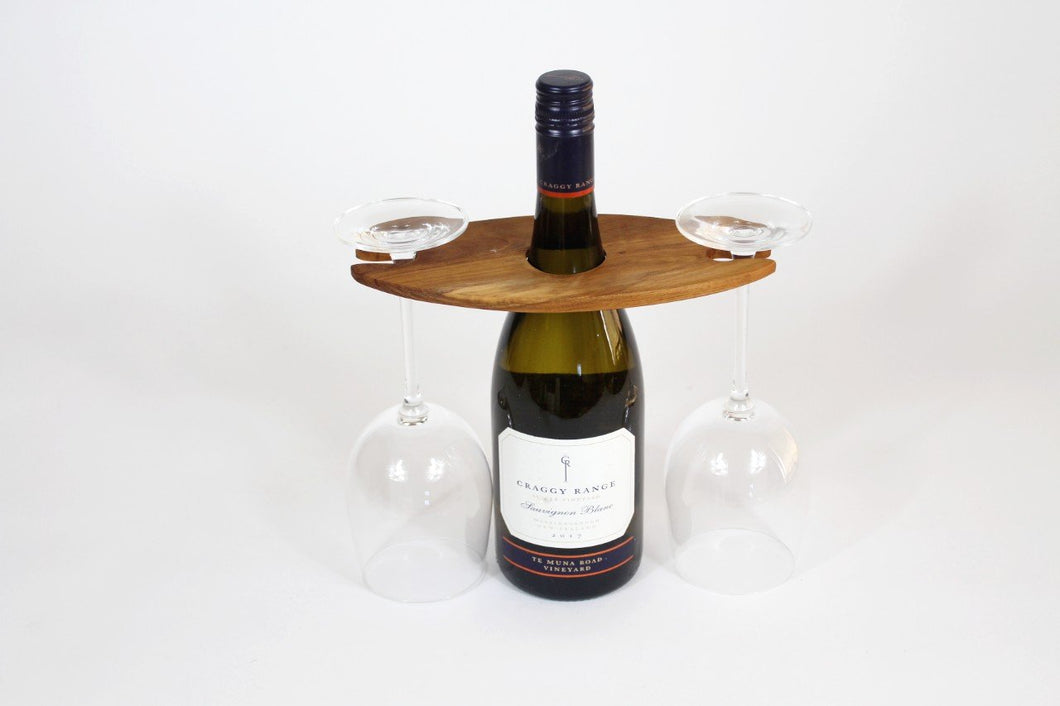 Wine Glass and Bottle Holder (2 Glass Holder)