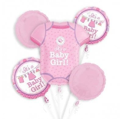 - Shower with Love Baby Girl Ballonboeket