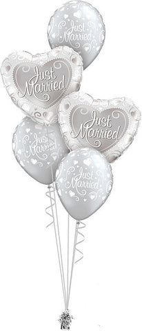 Just Married Hearts Ballonboeket