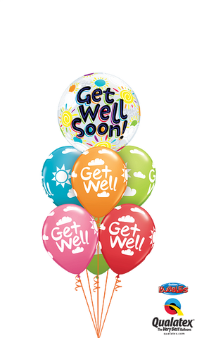 - Rainbow Get Well Ballonboeket