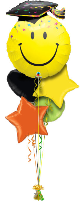 - Smiley Graduation Ballonboeket