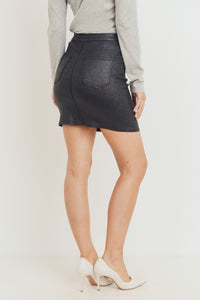 Sparkle Coated Skirt - Black
