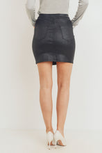 Load image into Gallery viewer, Sparkle Coated Skirt - Black