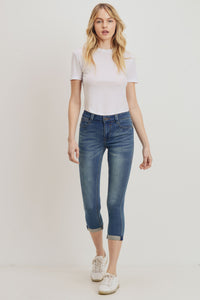 Sarina Cropped Skinny – Lake Blue