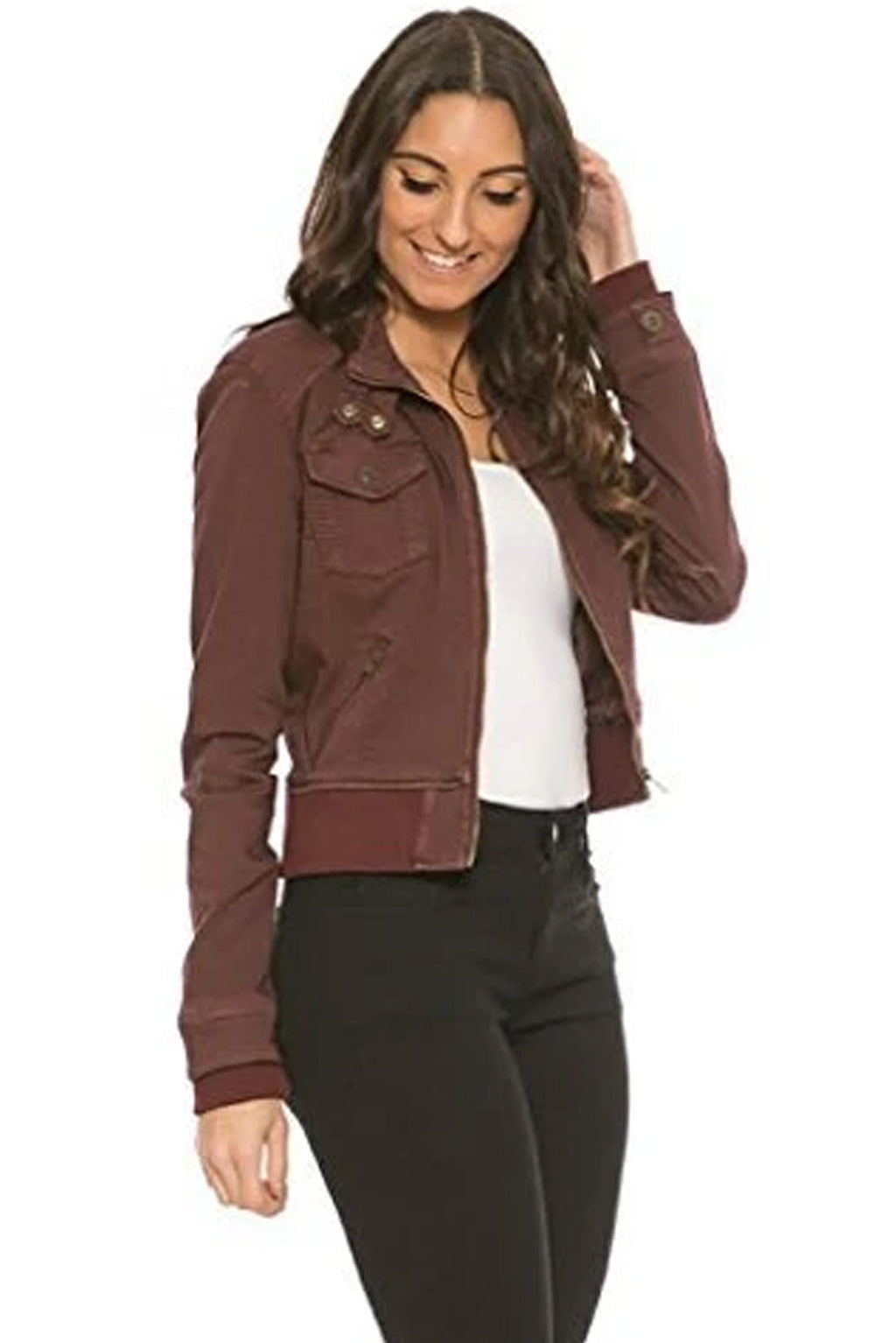 Bomber Jacket – Blackcherry