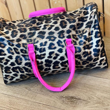 Load image into Gallery viewer, Hilton leopard faux leather duffle