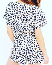 Load image into Gallery viewer, Leopard print Romper with tie