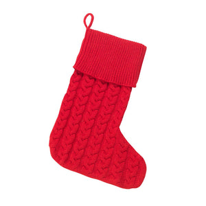 Red Cable Knit Stocking