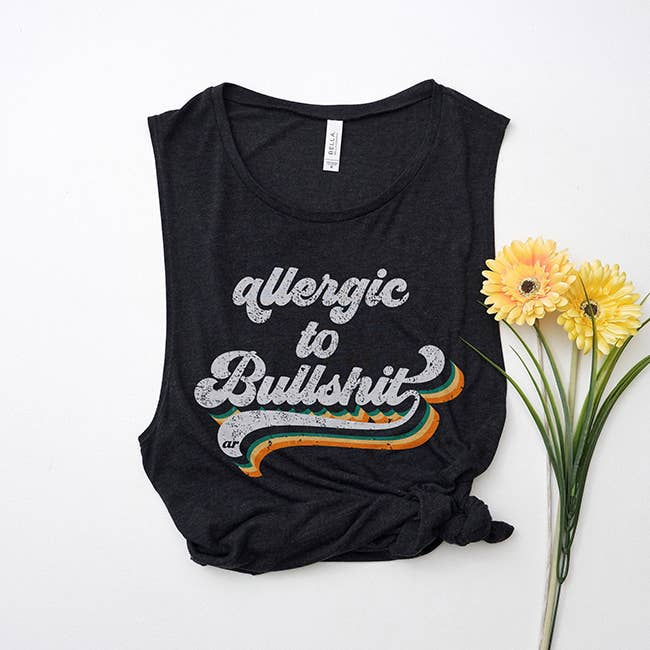 Allergic To Bullshit Muscle Tank