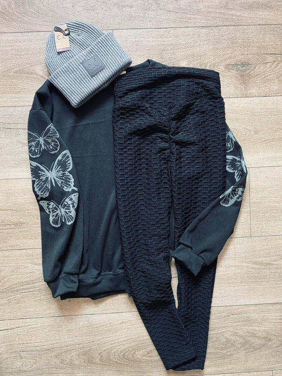 Fly Away Sweatshirt with butterfly sleeve
