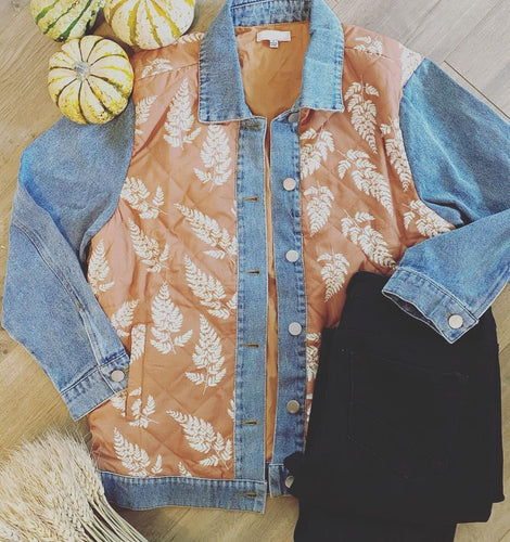 Denim Jacket with yellow quilt detail