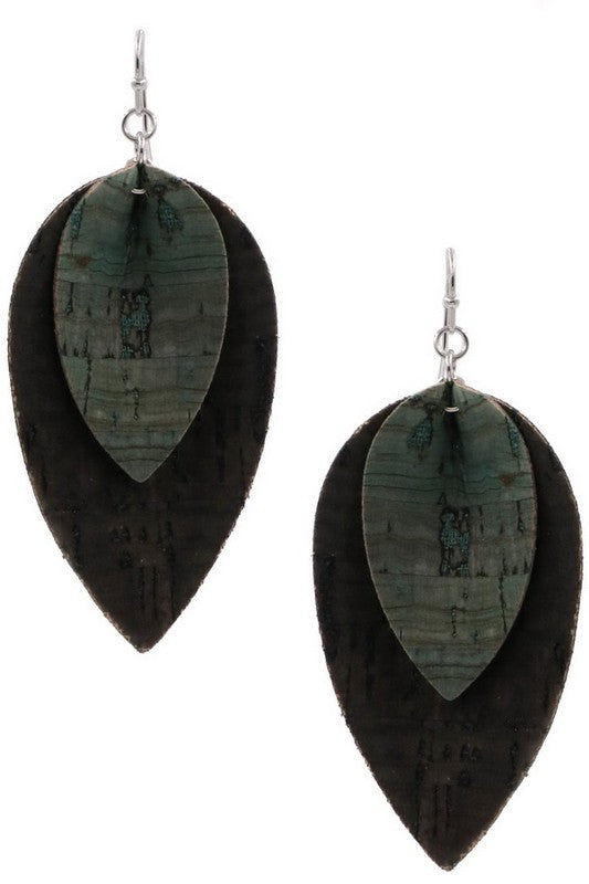 Layerd leaf earring