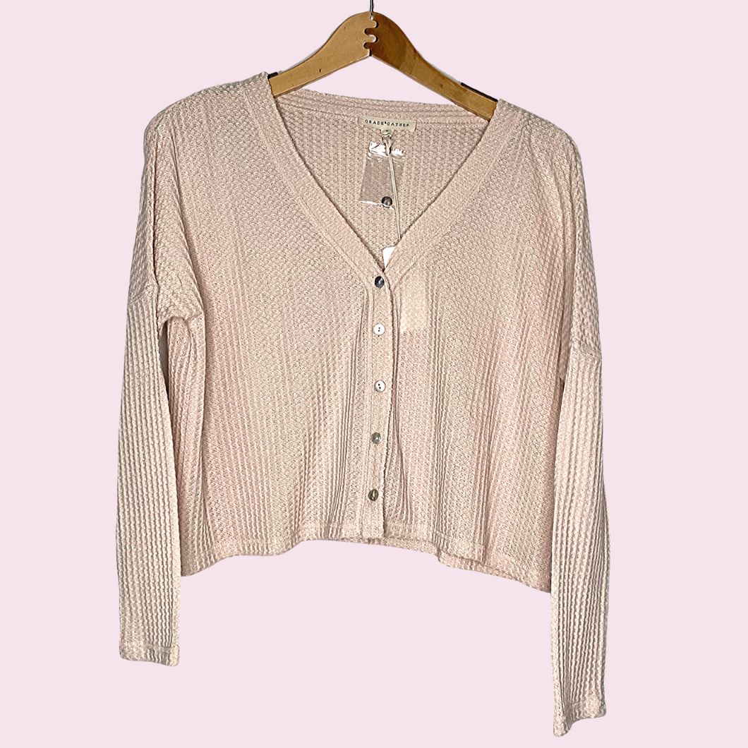Long Sleeve Waffle Knit Top