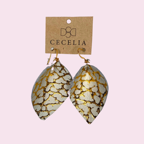 Pinched Leather Earring L02