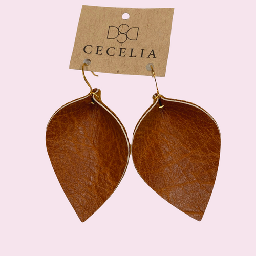 Pinched Leather Earring L31