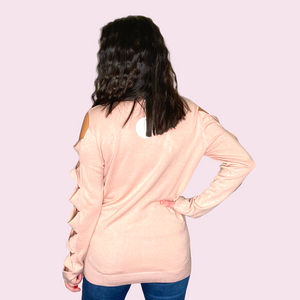 Longsleeve top with Twisted Sleeve