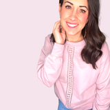 Blush detailed long sleeve shirt