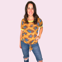 Load image into Gallery viewer, Leopard Print Knit Top with Front Tie