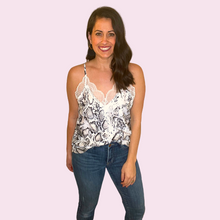 Load image into Gallery viewer, Snakeskin Pint Tank with Lace