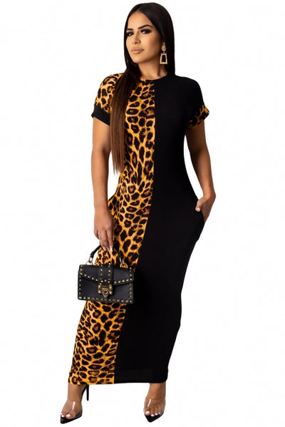 My Other Half Cheetah Print Maxi Dress - Bigdealfashions