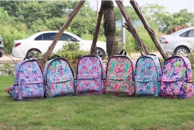 Inspired Lilly Pulitzer backpack