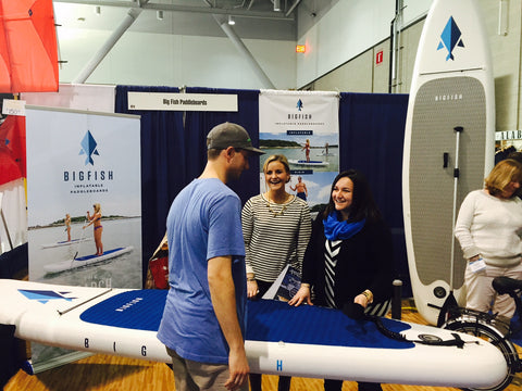 BIGFISH Inflatable Stand Up Paddleboards at the New England Boat Show