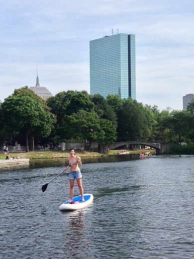 Bigfish inflatable stand up paddleboard sighting on the Charles River, Boston