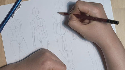 Different Sizes Female FASHION DESIGN CROQUIS Template