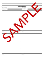 Tech Pack Label Placement Sheet Template