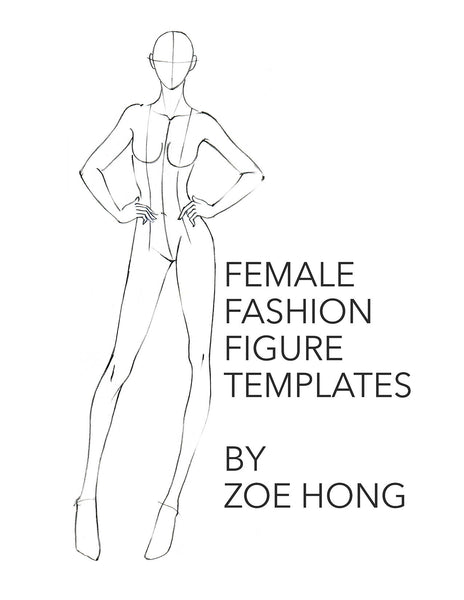 Female fashion figure templates cover