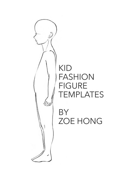 Kid FASHION FIGURE TEMPLATES