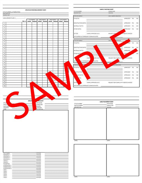 ENTIRE TECH PACK plus Bonus Cost Calculations Sheet and Pattern Card