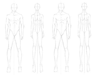 FASHION DESIGN CROQUIS Template Female + Male