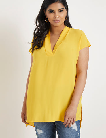 Short Sleeve Tunic in Marigold