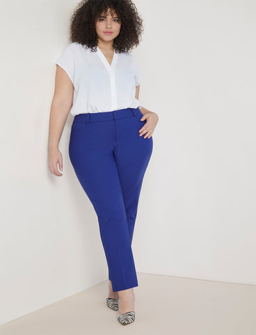 Regular Fit Kady Pant in Cobalt